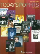 Todays Pop Hits Play COLDPLAY Taylor Swift Rhianna Big Note Piano MUSIC BOOK