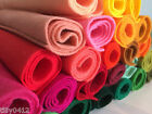 Wool mix felt fabric 22cm square : choice of 68 colours : choose 10 for £6