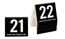 Plastic Table Numbers 21-40, Tent Style, Black w/white number, Free shipping
