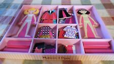 "*~*Melissa & Doug Magnetic ""Abby & Emma"" Dress-Up Wooden Doll 45 Pc. Set*~*"