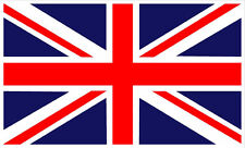 #425 (1) Union Jack Land Range Rover 5x3 GB Flag Decal  Vinyl Outdoor LAMINATED