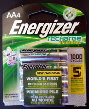 Energizer AA Recharge Universal Batteries UNH15BP-4 Pack, 1.2V 2000mAh NEW