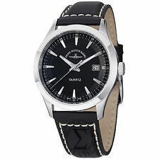 Zeno Mens 6662-515Q-G1 VintageLine Black Dial Black Leather Strap Watch