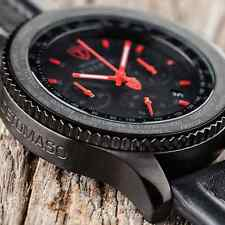 MENS DETOMASO FIRENZE XXL 48MM CHRONOGRAPH WATCH BLACK S-STEEL RED NEW RRP £159