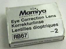 (PRL) MAMIYA RB67 RB EYE CORRECTION LENS -2 KORREKTURLINSE LENTILLE DIOPTRIQUE
