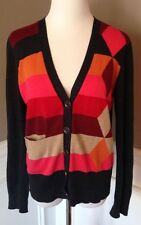 CAbi M Cotton Cardigan Long Sleeve Sweater W/ Striped Front Style 171