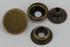 50 Druckknöpfe ! rostfrei !  15mm altmessing Ringfeder 10mm