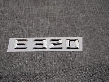 Chrome E 320 Number Letters Trunk Emblem Sticker for Mercedes Benz E Class E320