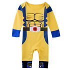 Baby Boys The Wolverine Costume Romper Infant Playsuit Long Sleeves Bodysuits