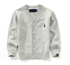 100% Cotton kids Cardigan Boys Girls Children's Knit Cardigan 7 colors 1-5 Y