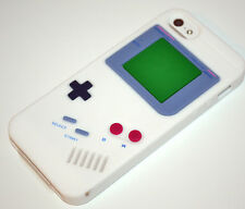 White Game Boy Retro Style Soft Silicone Rubber Case Cover for iPhone 5/5s/SE