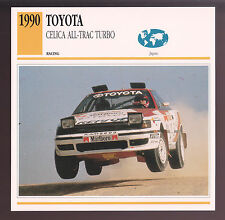 1990 Toyota Celica All-Trac Turbo Rally Race Car Photo Spec Sheet Info Stat CARD