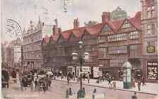 Old postcard of old houses, Holborn