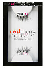 1 Pair GENUINE RED CHERRY Accent DS04 Human Hair False Eyelashes Half Lashes