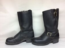 #1 VTG MENS ON GARD STEEL TOE ENGINEER MOTORCYCLE LEATHER BLACK BOOTS SIZE 8 D