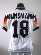 Jurgen KLINSMANN #18 Germany Home Football Shirt Jersey 1992-1994 (M)