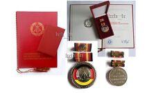 communist East german medal + ribbon bar + document Berlin 1983 DDR GDR RDA