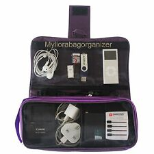 NEW 2016 Myliora Travel Gadget's Charger Organiser Cable Organizer, Dark Purple