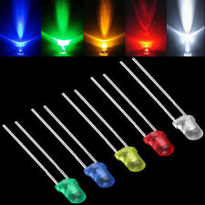 100pcs Luxury Colorful White Green Red Blue LED Light Bulb Emitting Diode Lamps