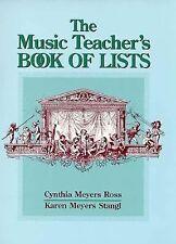 The Music Teacher's Book of Lists (J-B Ed: Book of Lists), Stangl, Karen Meyers,