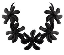 MARNI H&M Black Flower Pure Color Necklace