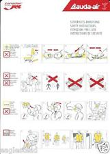 Safety Card - Lauda Air - Canadair Regional Jet  (S3664)