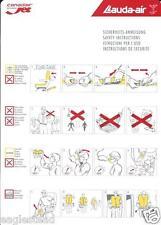 Safety Card - Lauda Air - Canadair Regional Jet  (S3664)
