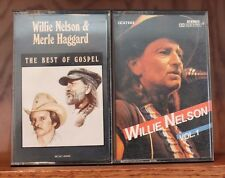 Lot 2 Willie Nelson Vintage Cassettes ~ Best of Gospel, First Release Vol 1 VG!