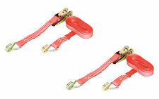 PAIR 1000kg 25mm x 5m Heavy Duty RATCHET STRAP Tie Down 1 Ton (1250kg webbing)