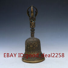 Chineae Bronze  Hand-carved Bell Statue