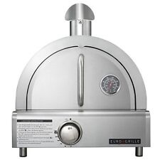 NEW Euro-Grille Elite Pizza Oven - Gas Stainless Steel Outdoor LPG Grill Camping