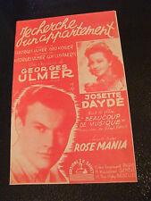 Partition Je cherche un appartement  Georges Ulmer josette Daydé 1946