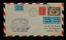 1933 Canada Air Mail First Official Flight to Buffalo NY Par Avion London ON Cov