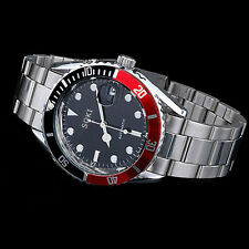 New Date Analog Mens Mechanical Automatic Self winding SOKI Steel Watch W085