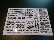 1/10 drift rc car stikers decals Black Greddy 2 pcs !
