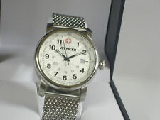 Wenger 1014.10 Urban Classic Silver Sunray Textured Stainless Steel Mesh Band