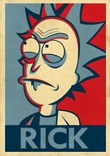 "Rick and Morty ""Rick"" - A4 Glossy Poster -TV Film Movie Free Shipping #53"