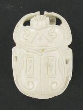 AFRICAN CAMEO CARVING OF A SCARAB BEETLE - BROOCH HAND CARVED BUFFALO  BONE???