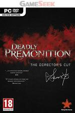 DEADLY PREMONITION THE DIRECTORS CUT - PC BRAND NEW FREE DELIVERY
