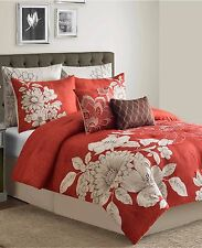 Sunham Bedding Stella 8 (4) Piece King Comforter Set Red MSRP $300 B204