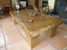 Handcrafted coffee table made from reclaimed timber