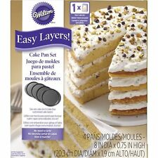 "Wilton easy couches! 8"" cake pan set 4pc"