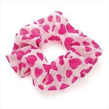 pink heart hair scrunchie hair elastic bobble ladies girls ha29131 white
