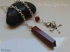 Red jasper point gemme cristal guérison pendule sourcier sourcellerie spirituel cadeau