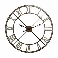 1940's Belgium  INdustrial Hardware Look Open Roman Numerals Clock Large 27""