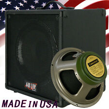 1x12 Guitar Speaker Extension Cab W/8 Ohm CELESTION Greenback Br Black tolex