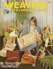 Weaving on a Cardboard Loom Brook Dickerhoff Vintage How To Pattern Book NEW