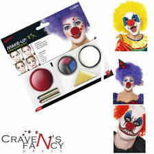 Clown Face Paint Make Up Special FX Kit  Nose HalloweenFancy Dress Smiffys