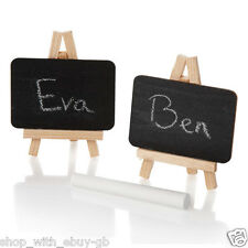 10 x Mini Blackboard Place Card Holder Easel - Wedding Chalkboard Table Number