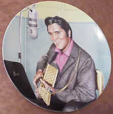 """Elvis Presley - Studio Session 8.5"""" by Bruce Emmett 1989 Collector Plate F-563"""